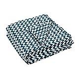 Navaris Gewichtsdecke 135x200 cm 8,8 kg - Bezug aus Baumwolle - 7 Schichten - Therapiedecke schwere Bettdecke - Beschwerte Decke Zickzack