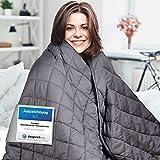 Comodo Gewichtsdecke – Therapiedecke – 7,2kg,152x203cm – Weighted Blanket – 100% Baumwolle – Für Stressabbau&Angstzustände – Mit Tasche