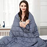 jaymag Gewichtsdecke 135x200 7kg Therapiedecke Schwere Decke Entspannungsdecke für Angst und Schlafstörungen Beschwerte Decke Kuscheldecke, 100% Baumwolle, Blau Weighted Blanket